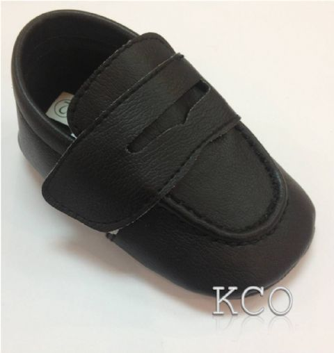 Style FJS001 Black~Boys Black Shoes